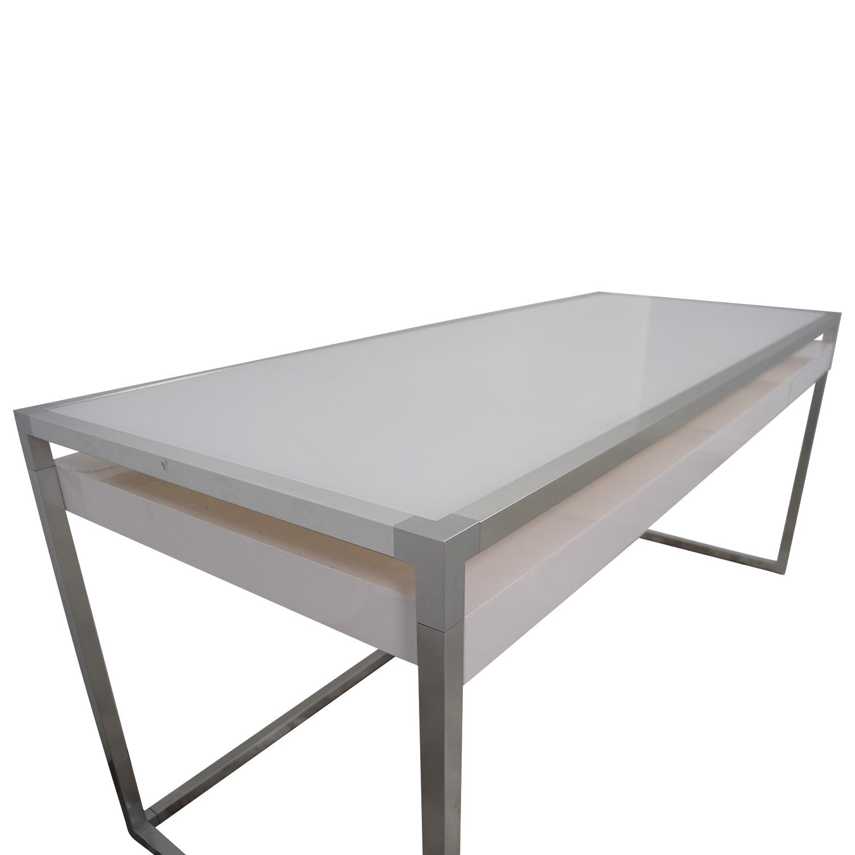 Ligne Roset Ligne Roset White and Grey Dining Table Grey