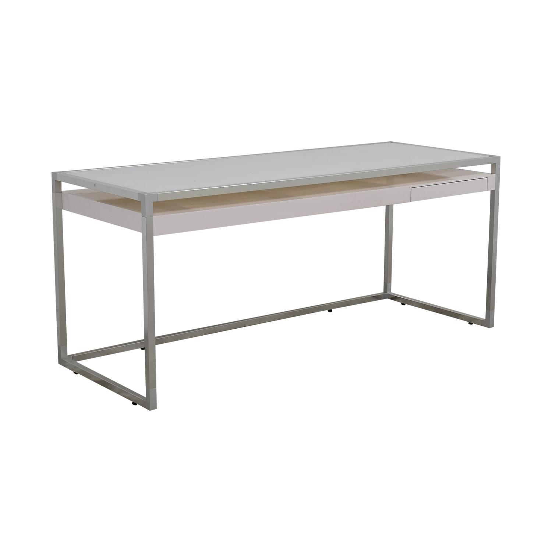 Ligne Roset Ligne Roset White and Grey Dining Table