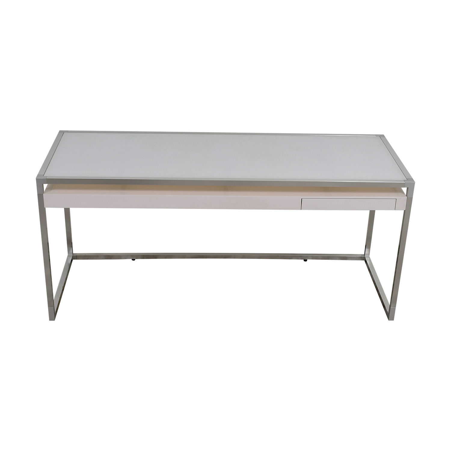 Ligne Roset Ligne Roset White and Grey Dining Table second hand