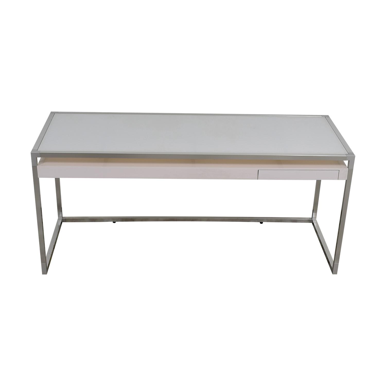 shop Ligne Roset White and Grey Dining Table Ligne Roset Dinner Tables