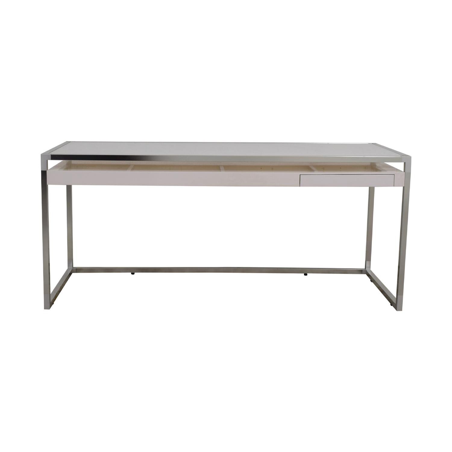 Ligne Roset Ligne Roset White and Grey Dining Table discount