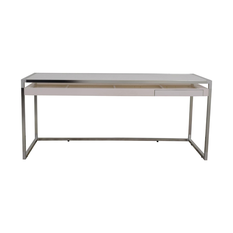 buy Ligne Roset Ligne Roset White and Grey Dining Table online