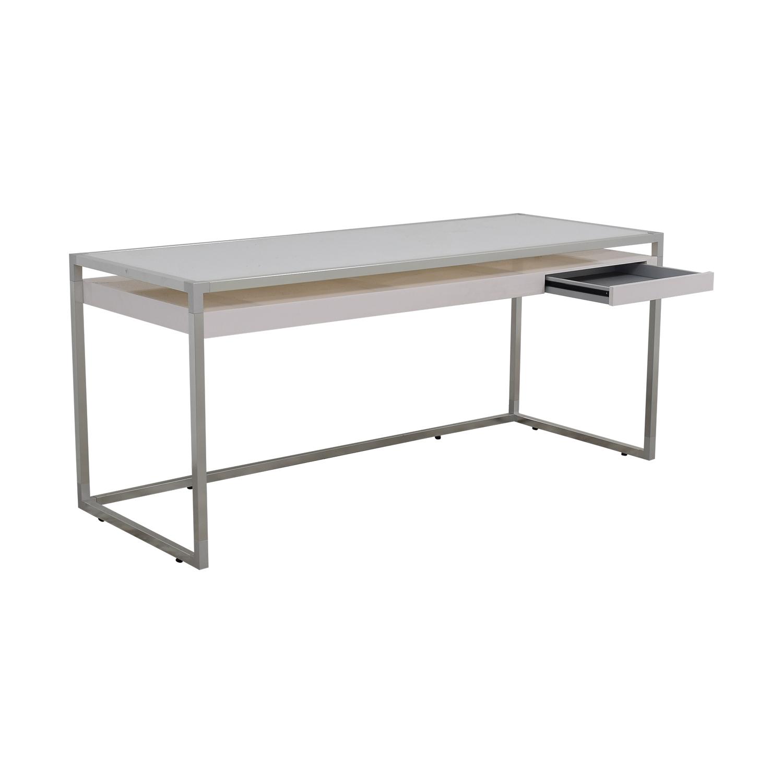 Ligne Roset Ligne Roset White and Grey Dining Table for sale