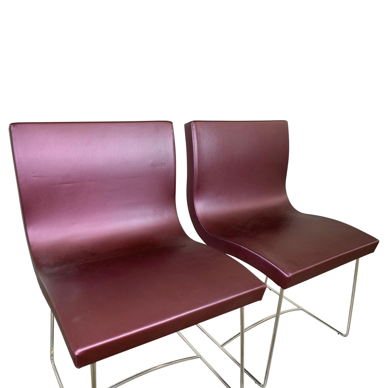 87 off ligne roset ligne roset purple dining chairs. Black Bedroom Furniture Sets. Home Design Ideas