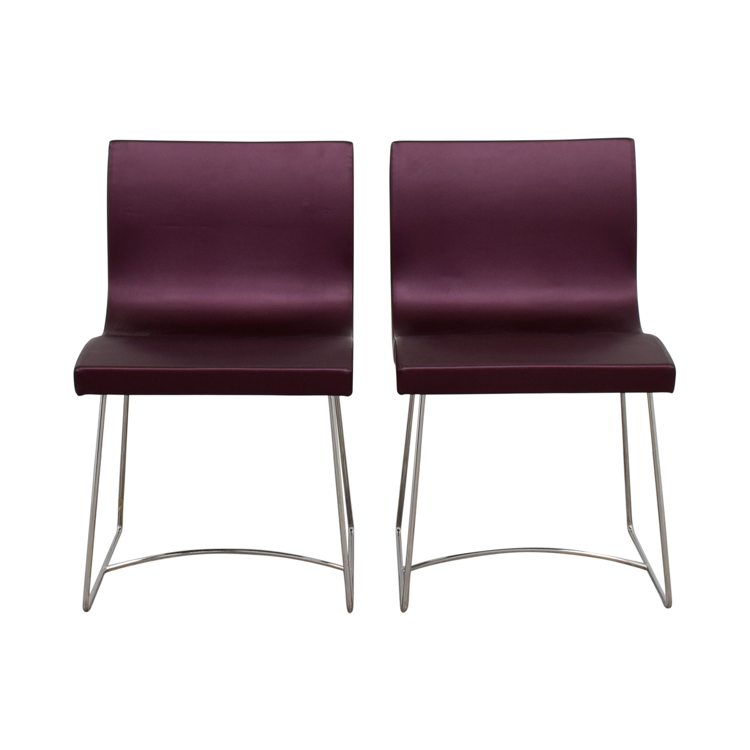 Ligne Roset Ligne Roset Purple Dining Chairs second hand