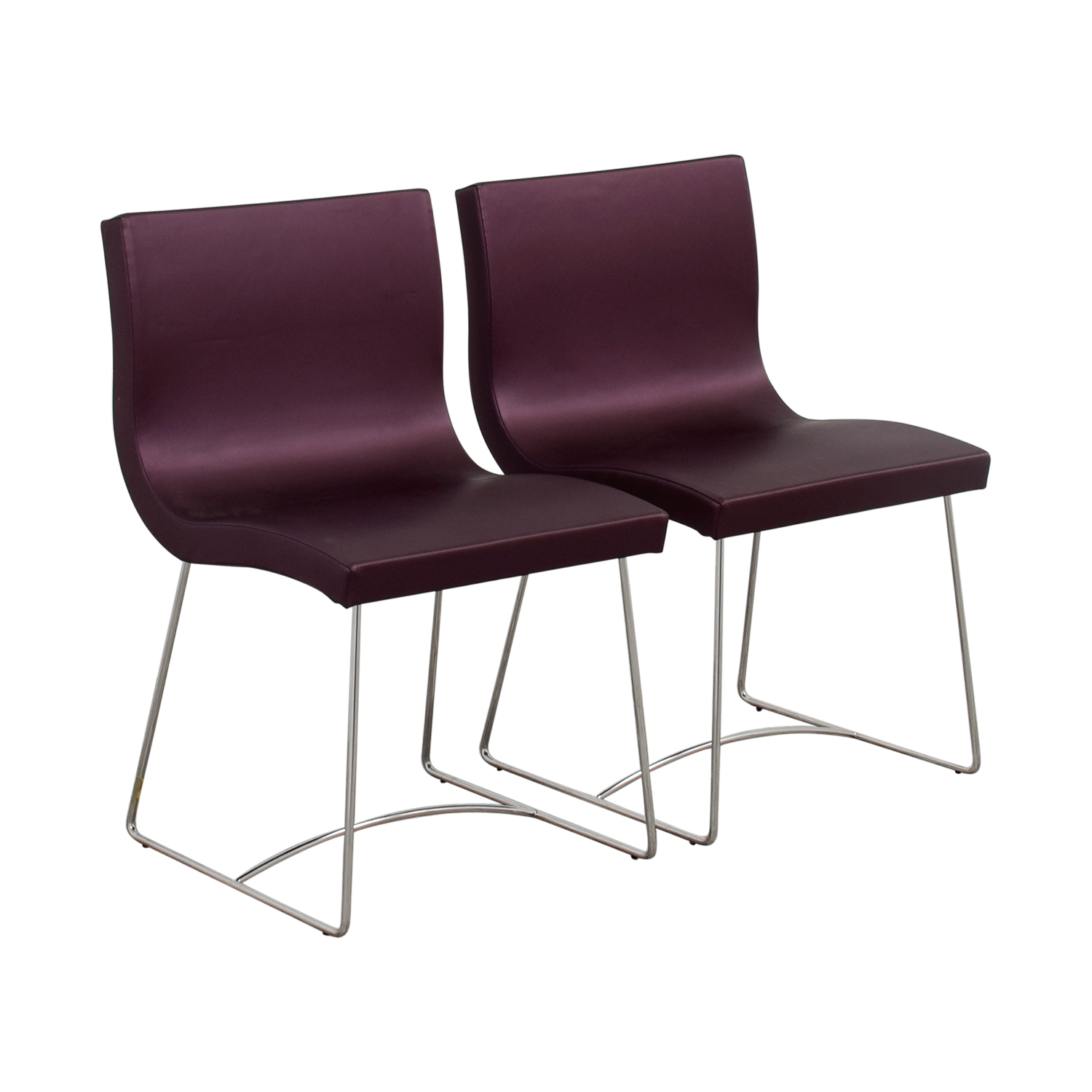 Beau ... Ligne Roset Purple Dining Chairs / Dining Chairs ...