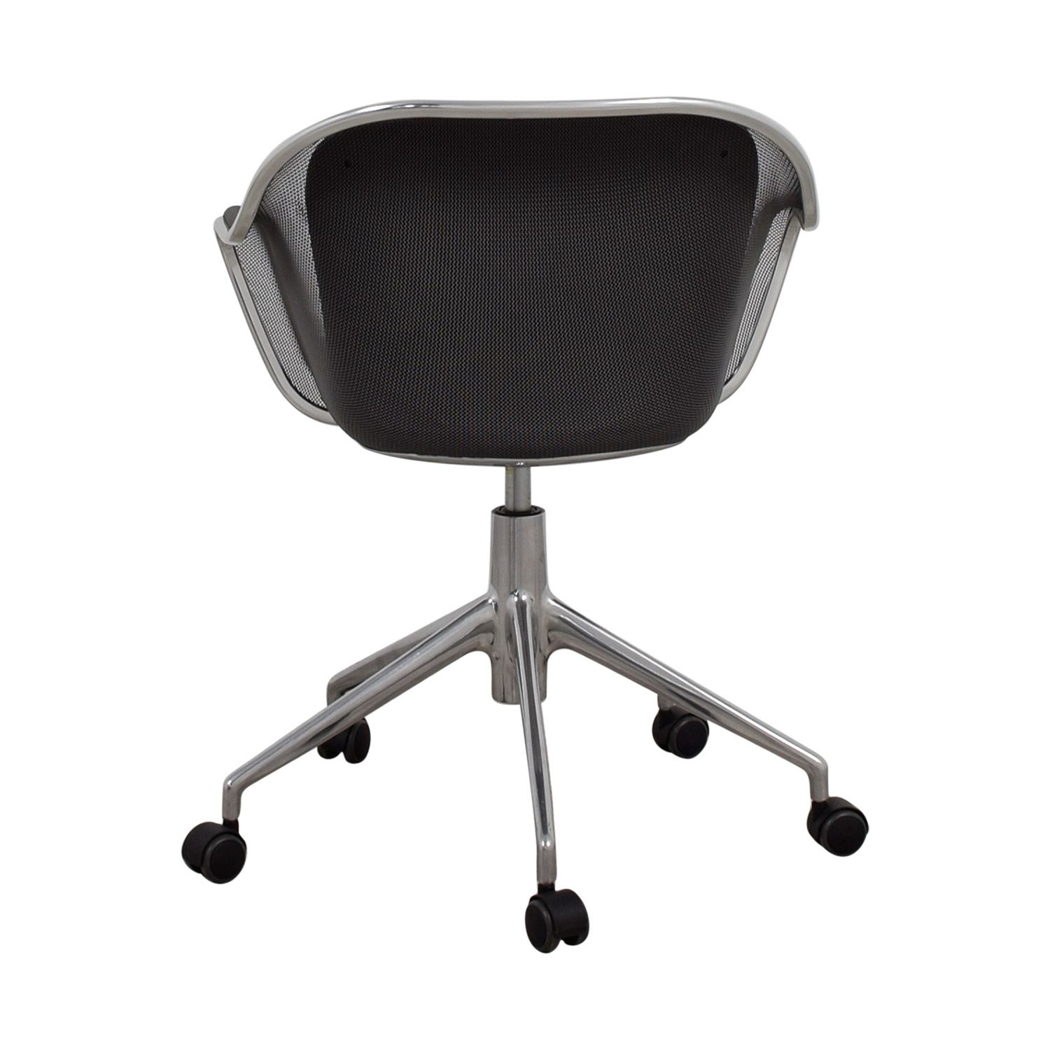 shop B & B Italia Grey Leather Desk Chair B & B Italia Chairs