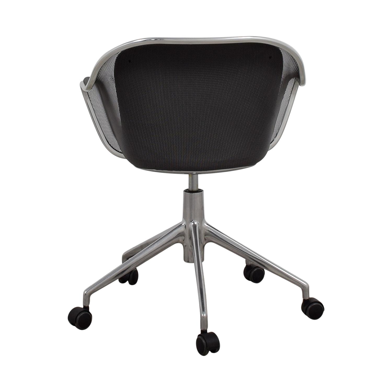 buy B & B Italia B & B Italia Grey Leather Desk Chair online