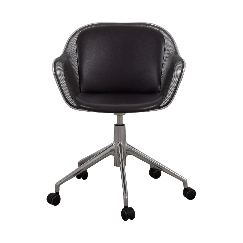 B & B Italia B & B Italia Grey Leather Desk Chair on sale