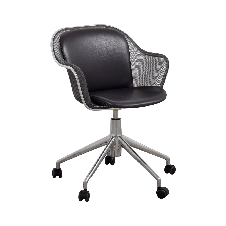 B & B Italia B & B Italia Grey Leather Desk Chair coupon
