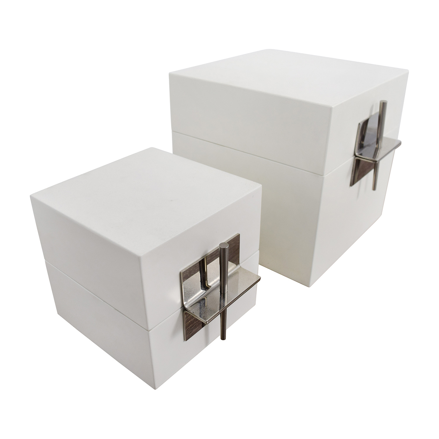 Ligne Roset Ligne Roset White Truck Chests Decorative Accents