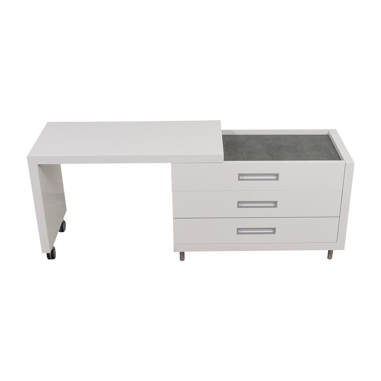 Ligne Roset Ligne Roset White Dressing Table with Drawers