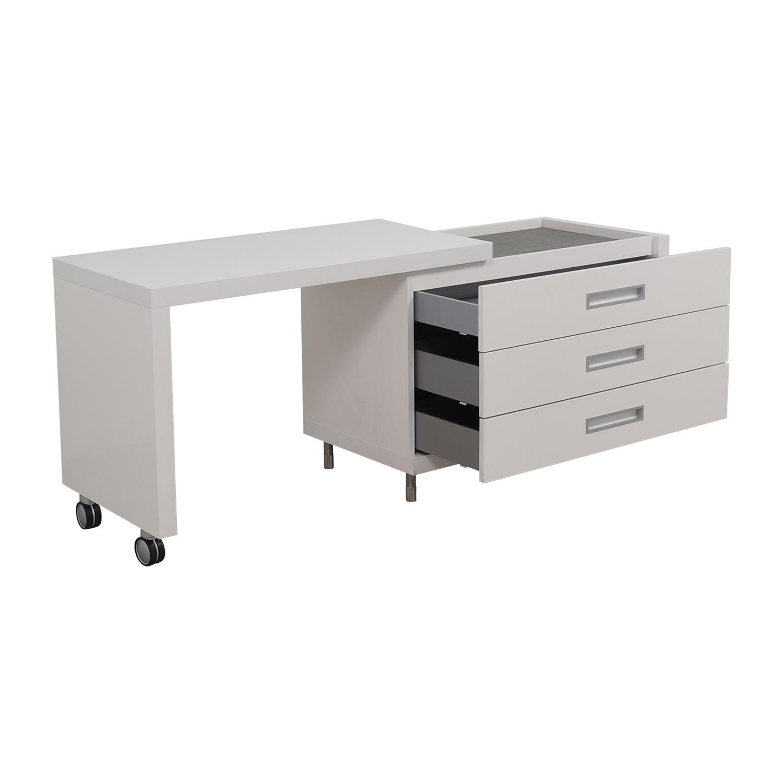 ... Shop Ligne Roset White Dressing Table With Drawers Ligne Roset Home  Office Desks ...