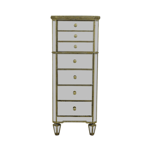 Horchow Horchow Mirrored Seven-Drawer Tall Chest Dresser
