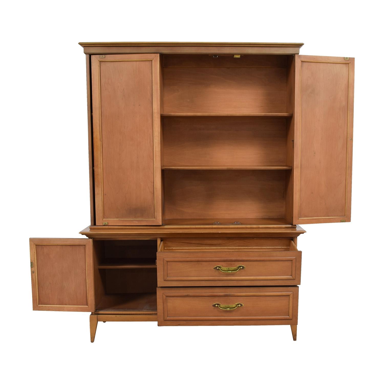 buy Broyhill Premier Mid Century Walnut Hutch Broyhill Premier Cabinets & Sideboards