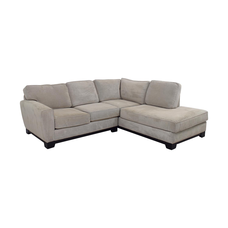 84 Off Jordan S Furniture Jordan S Furniture Beige L Shaped Sectional Sofas