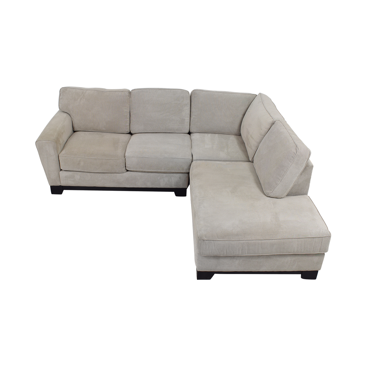 shop Jordan's Furniture Beige L-Shaped Sectional Jordan's Furniture