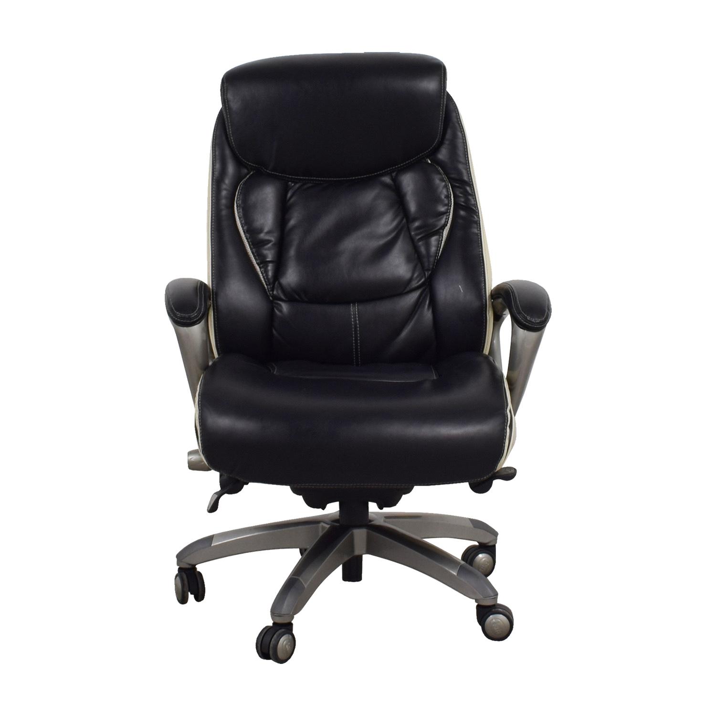 SERTA Serta Tranquility Black Executive Chair dimensions
