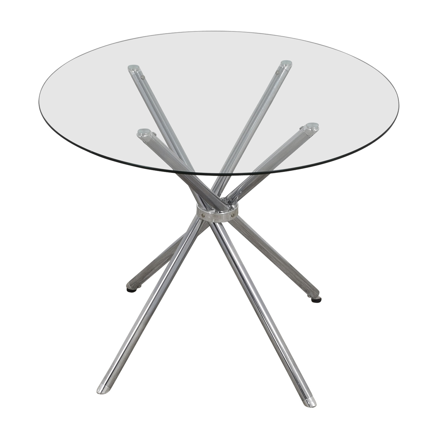 shop Round Glass and Chrome Dining Table Tables