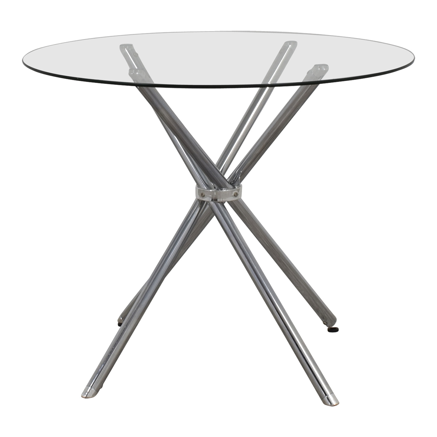 Round Glass And Chrome Dining Table Price ...