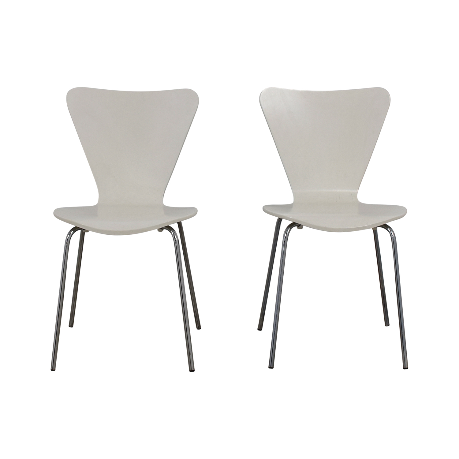 White Dining Chairs dimensions