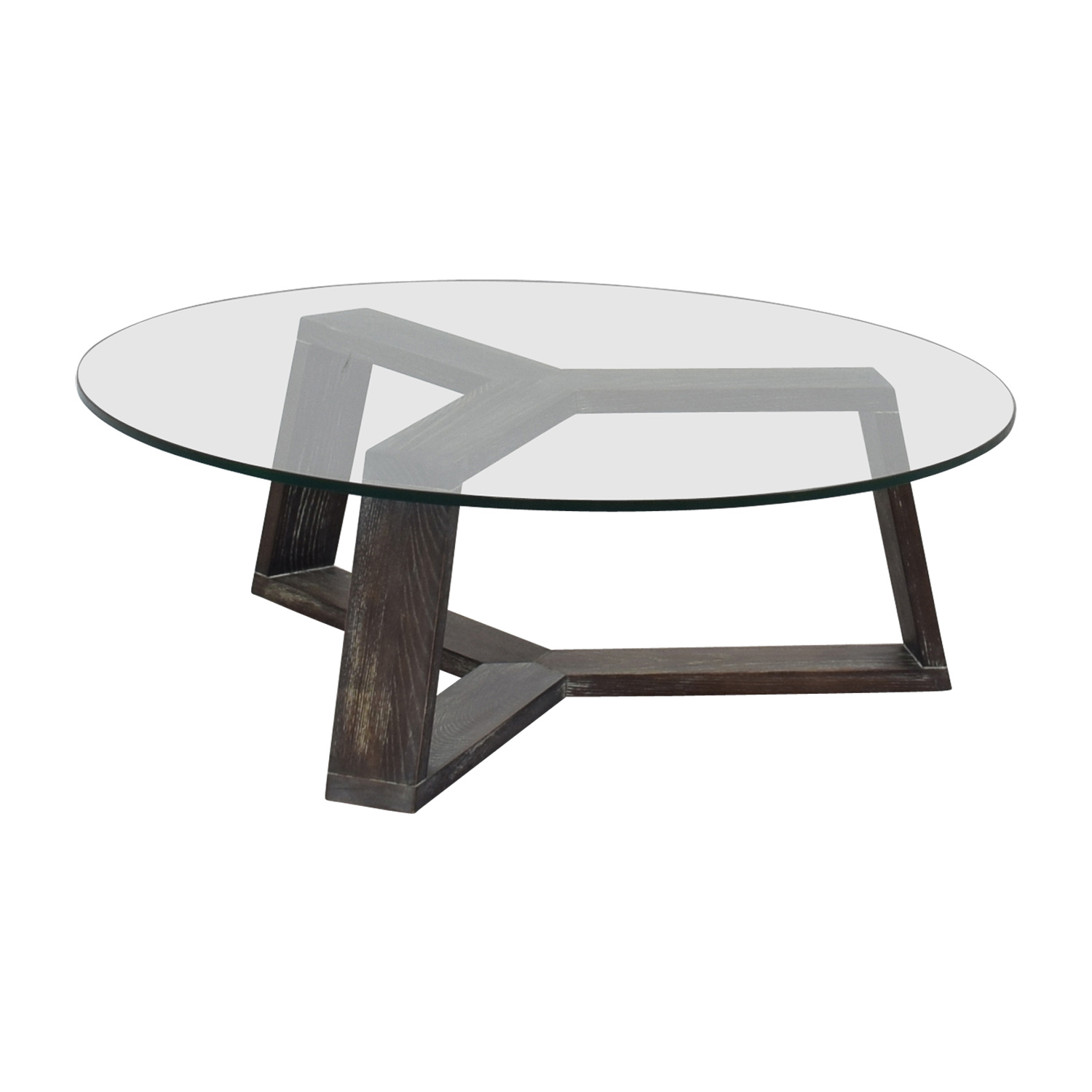 Z Gallerie Duplicity Coffee Table: Cb2 Round Glass Coffee Table