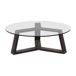 CB2 CB2 Round Glass And Wood Coffee Table price