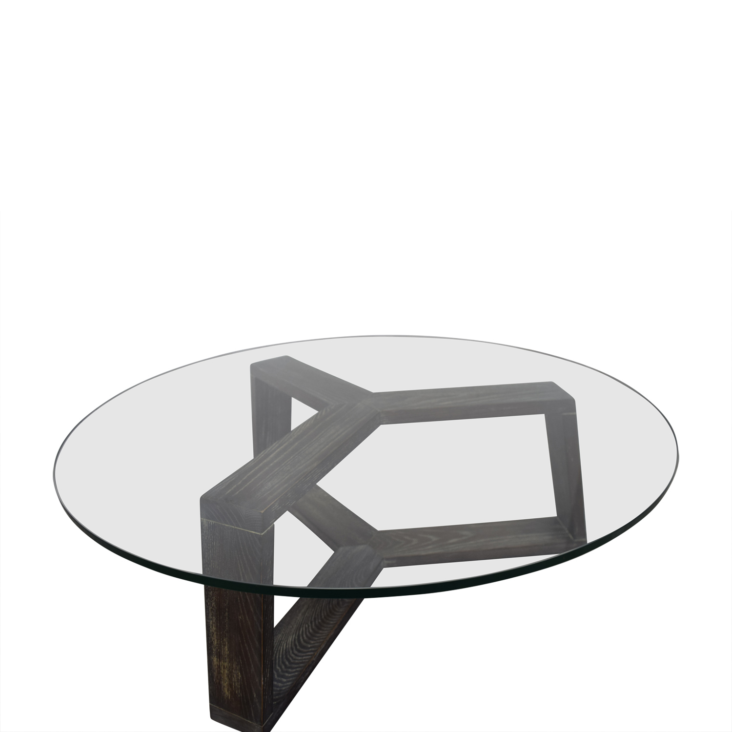 Ottoman Coffee Table Cb2: CB2 CB2 Round Glass And Wood Coffee Table / Tables