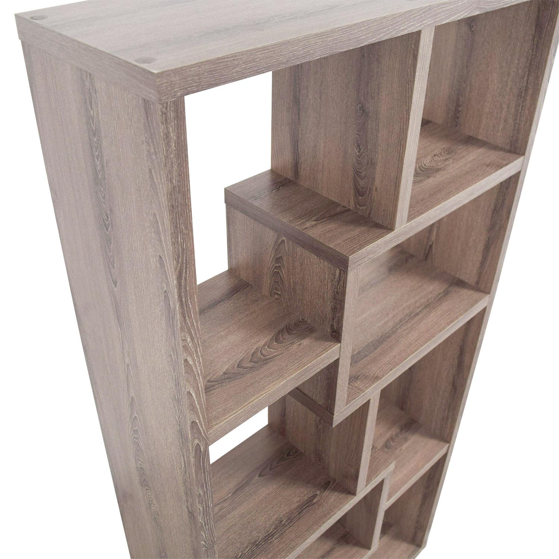 Used Wood Bookcases ~ Off multi shape grey wood bookcase storage