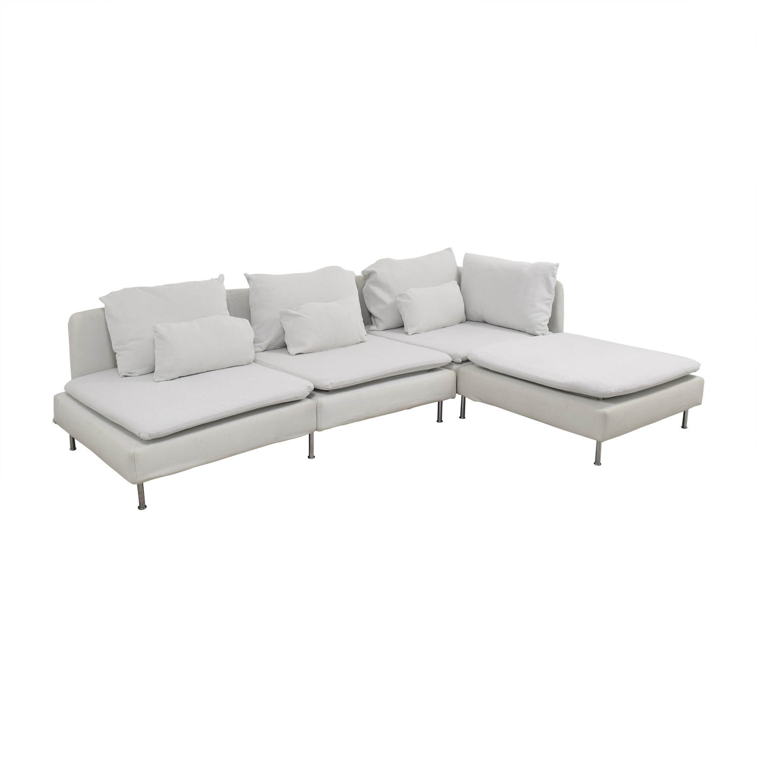 sectional ashwell rachel products at chic simple white shabby silo couture
