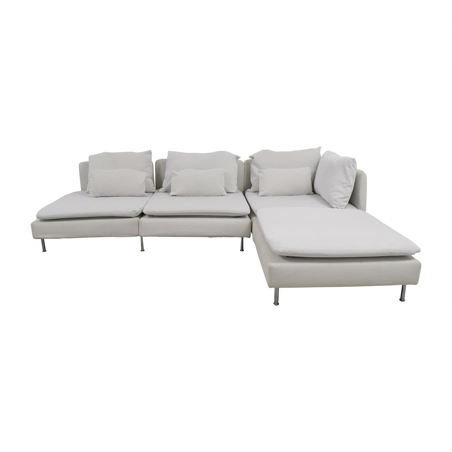 77% OFF - IKEA IKEA Soderhamn White Sectional / Sofas