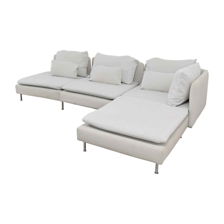 77% OFF - IKEA IKEA Soderhamn White Sectional / Sofas