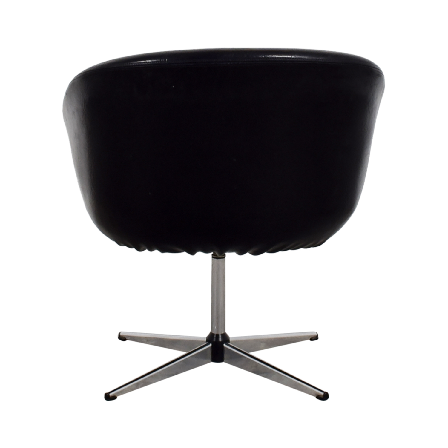 By Design By Design Modern Black Revolving Chair nj