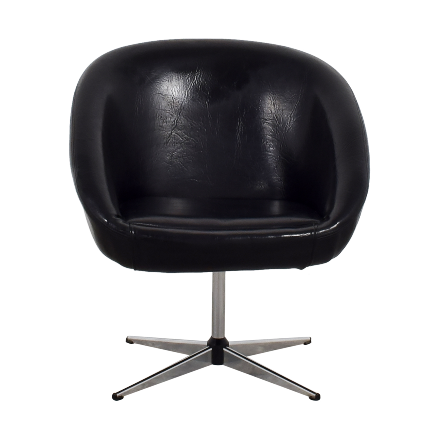 By Design By Design Modern Black Revolving Chair for sale