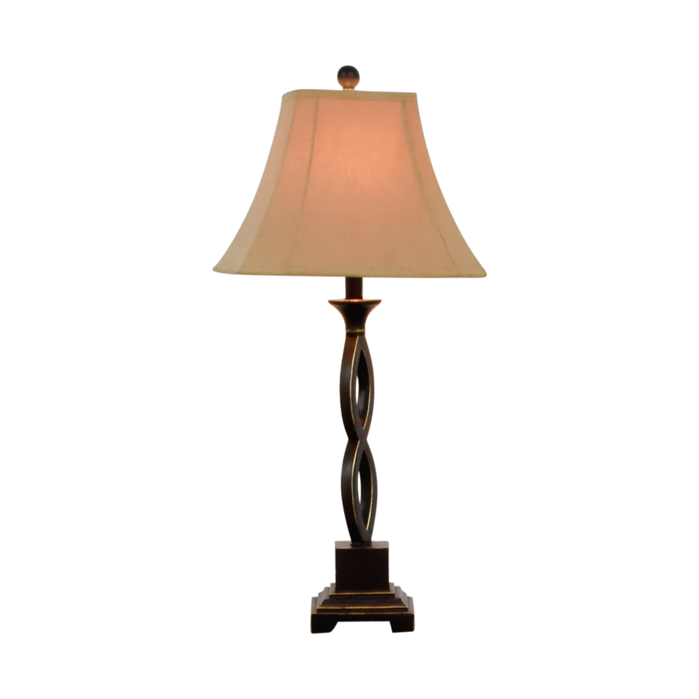 Brown Metal Table Lamp / Lamps