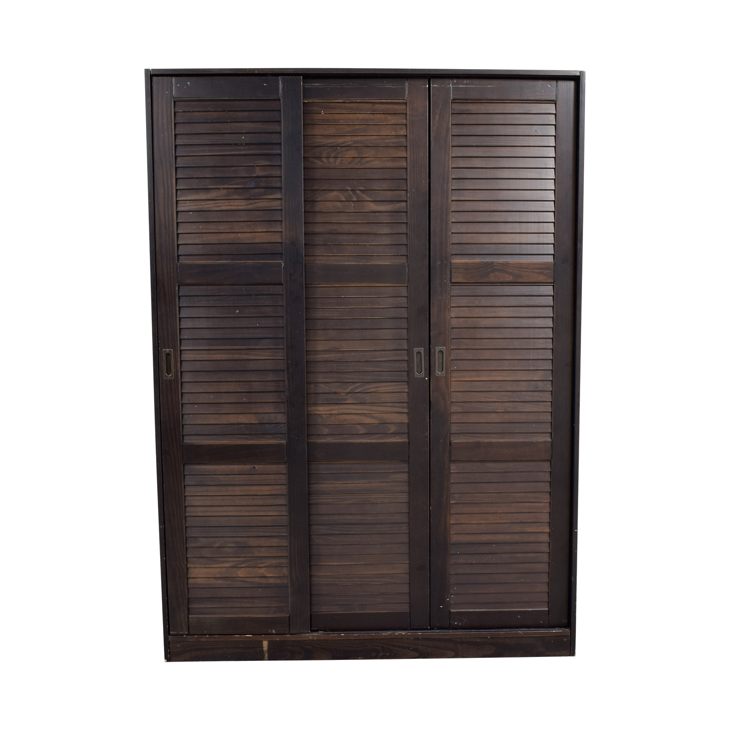 Brown Wardrobe with Hanging and Shelf Space for sale