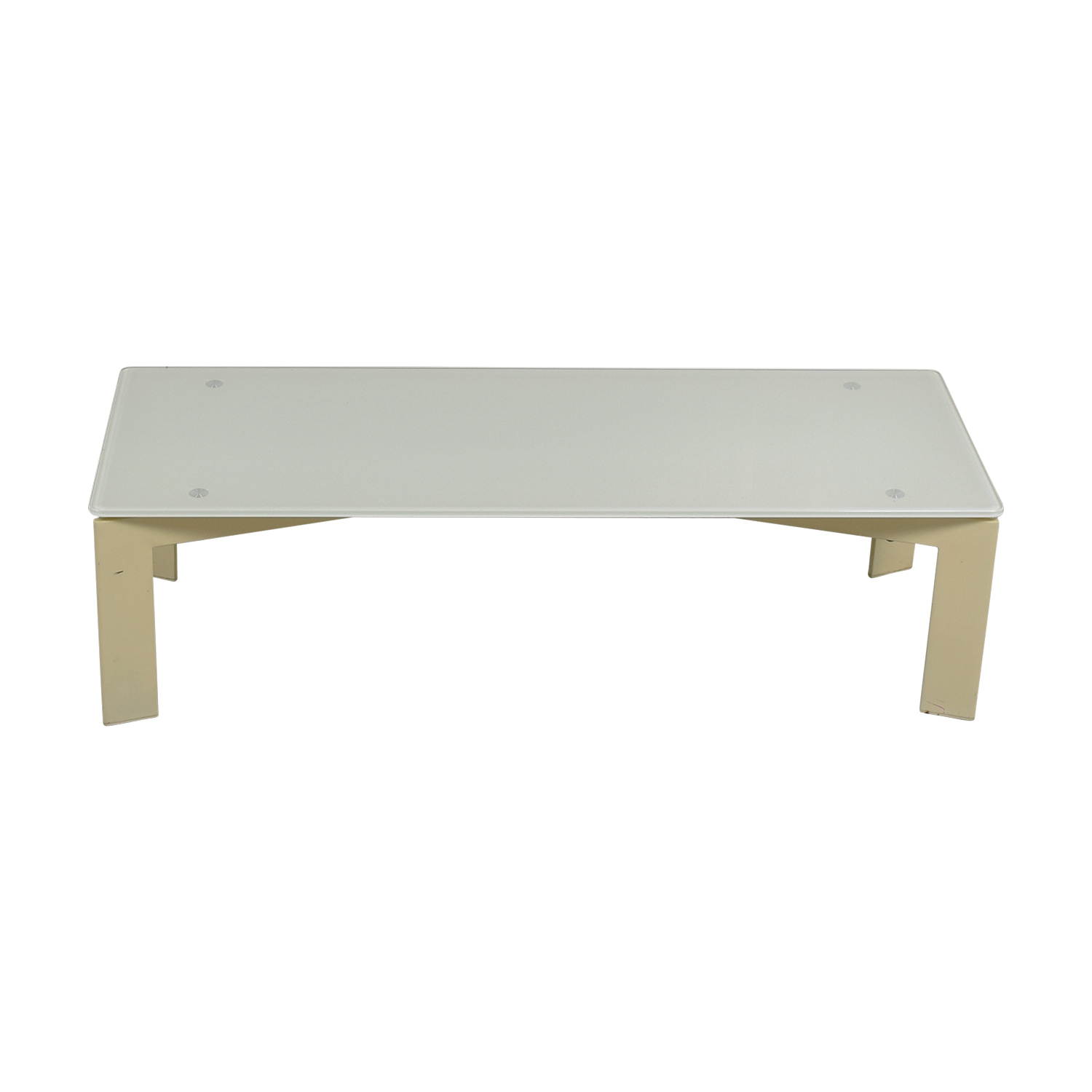 White and Beige Coffee Table on sale