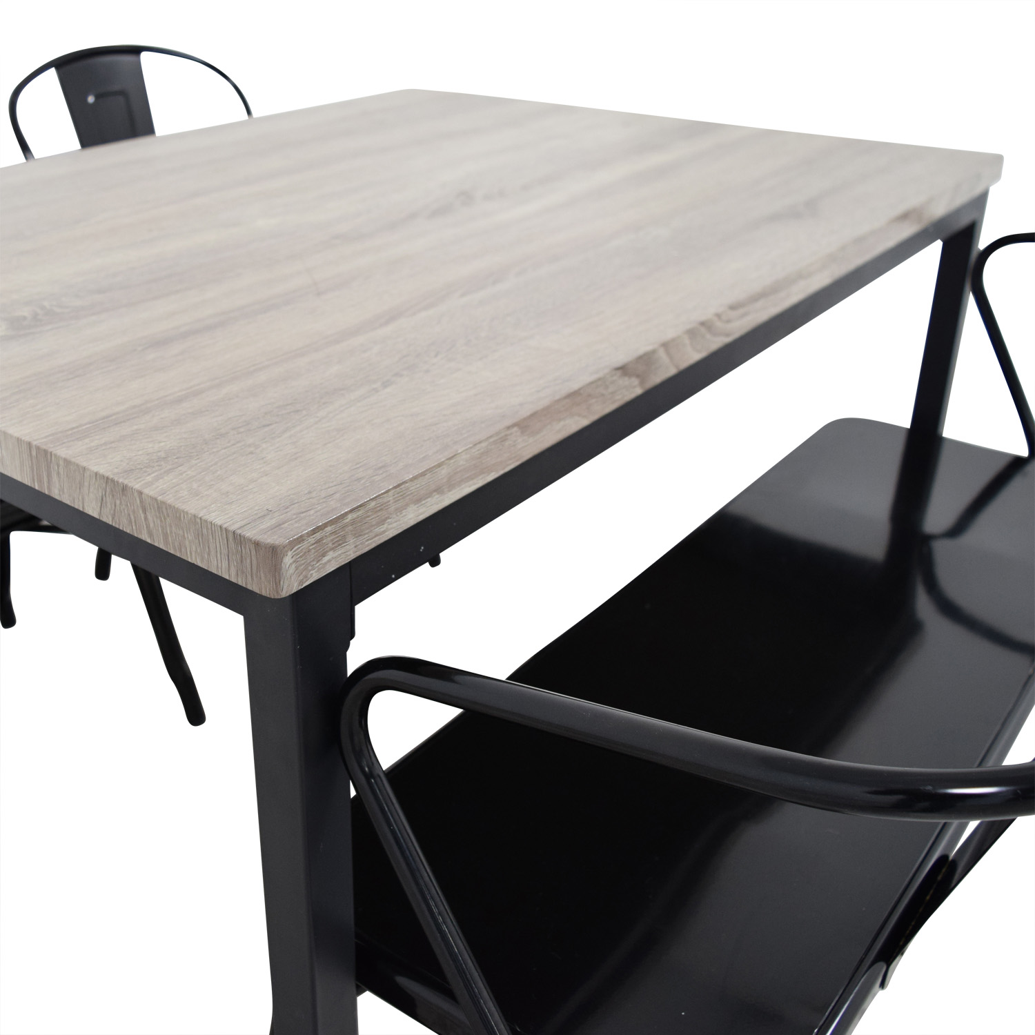 Grey Dining Table Set With Chairs And Bench / Tables