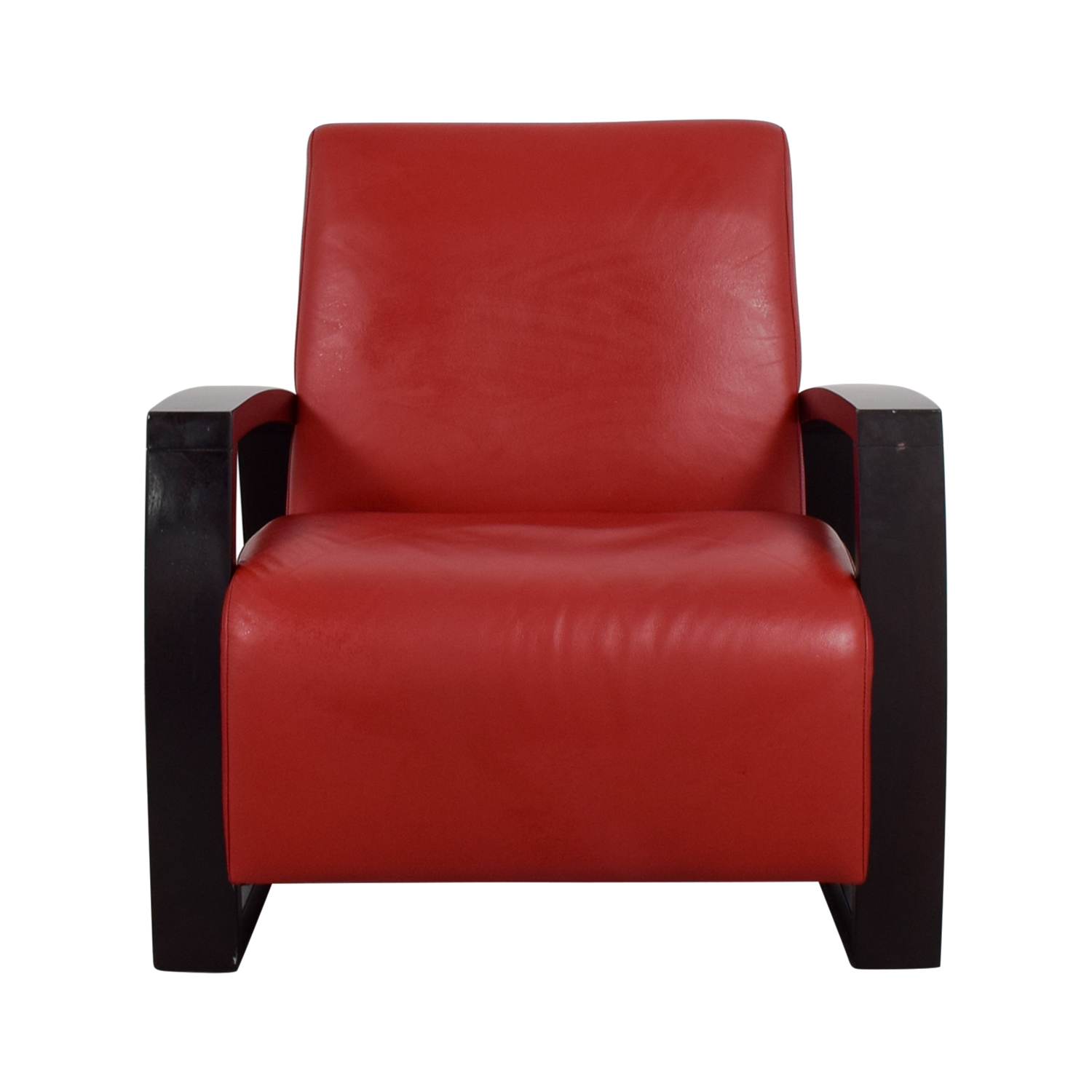 Cantoni Cantoni Red Leather Accent Chair ...