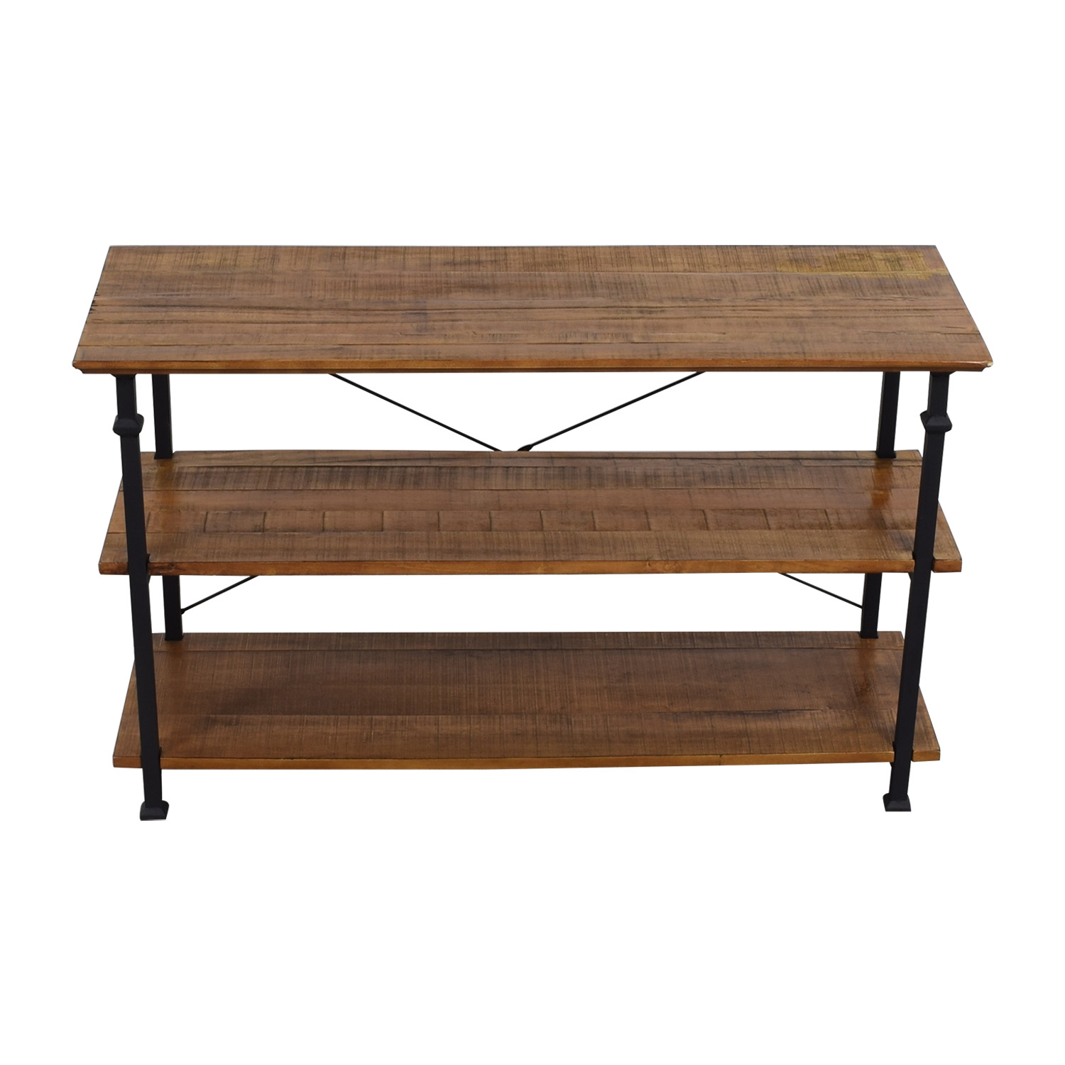 buy Rustic Wood TV Stand online