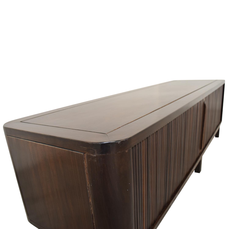 ... Shop Custom Ebony Mahogany TV Cabinet Storage ...