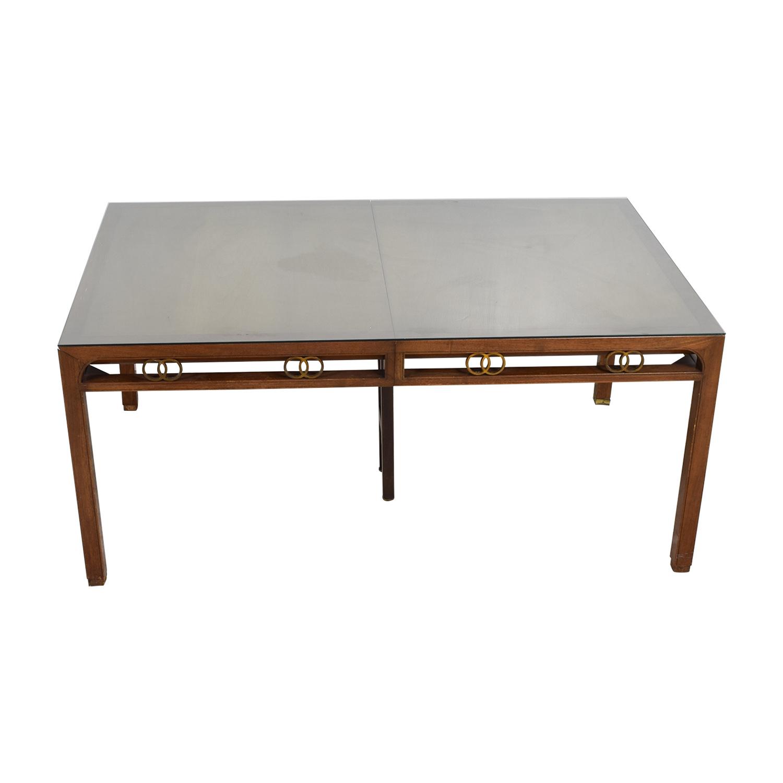 mid century modern dining room table | 90% OFF - Baker Furniture Baker Mid-Century Modern Dining ...