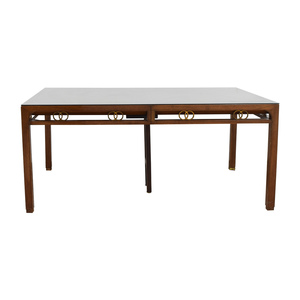 Baker Furniture Baker Mid-Century Modern Dining Room Table nyc