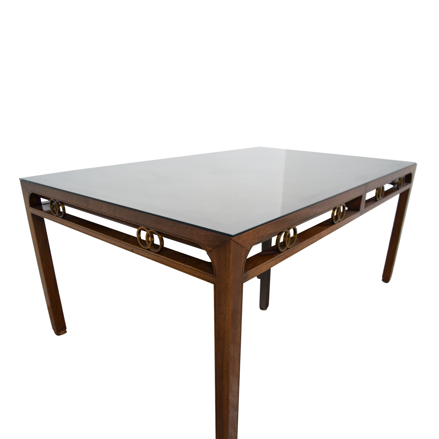 Baker Baker Mid-Century Modern Dining Room Table second hand