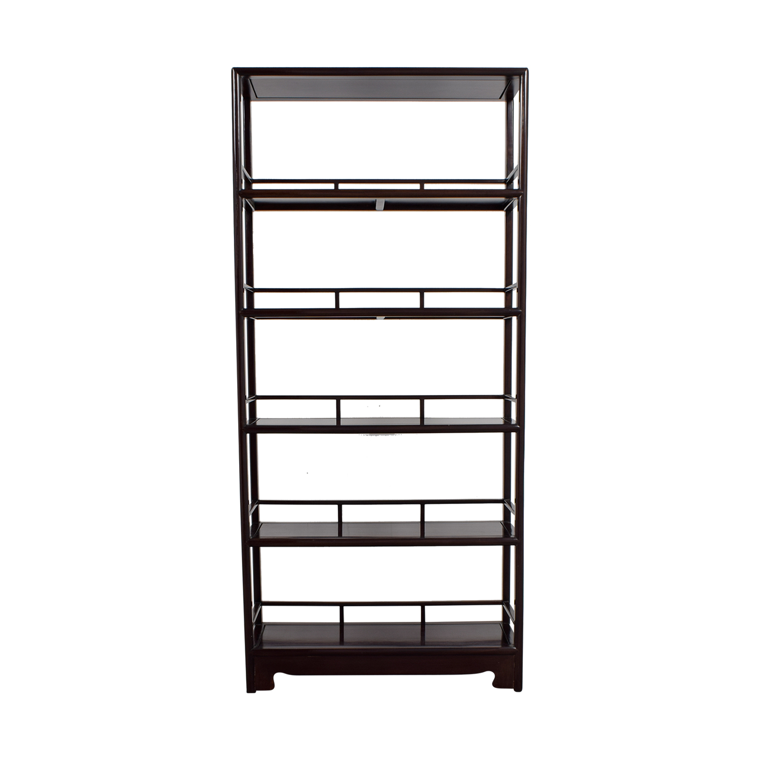 Five-Shelf Wood Bookcase on sale