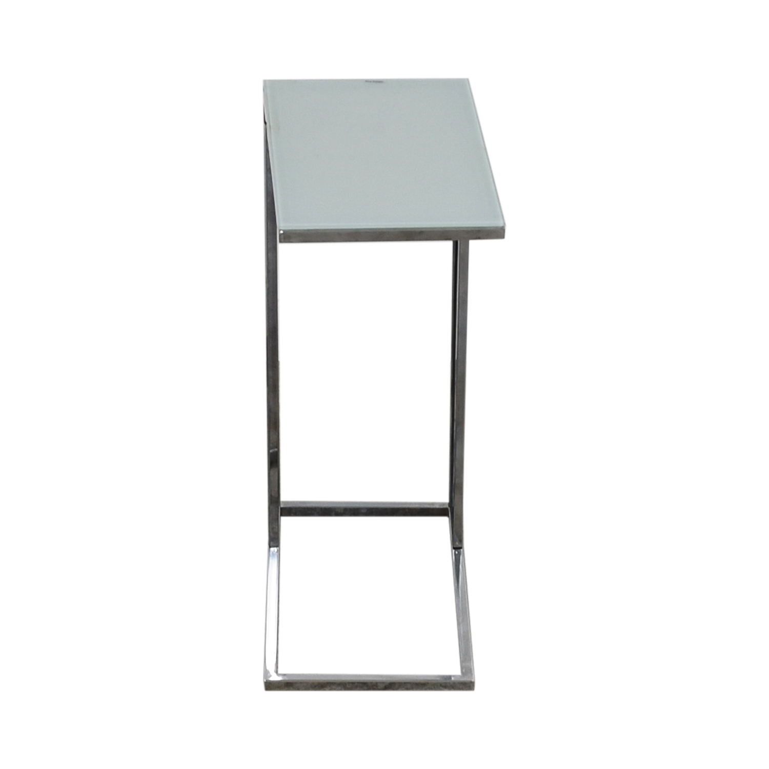 buy Shaded Glass and Chrome L Side Table Tables