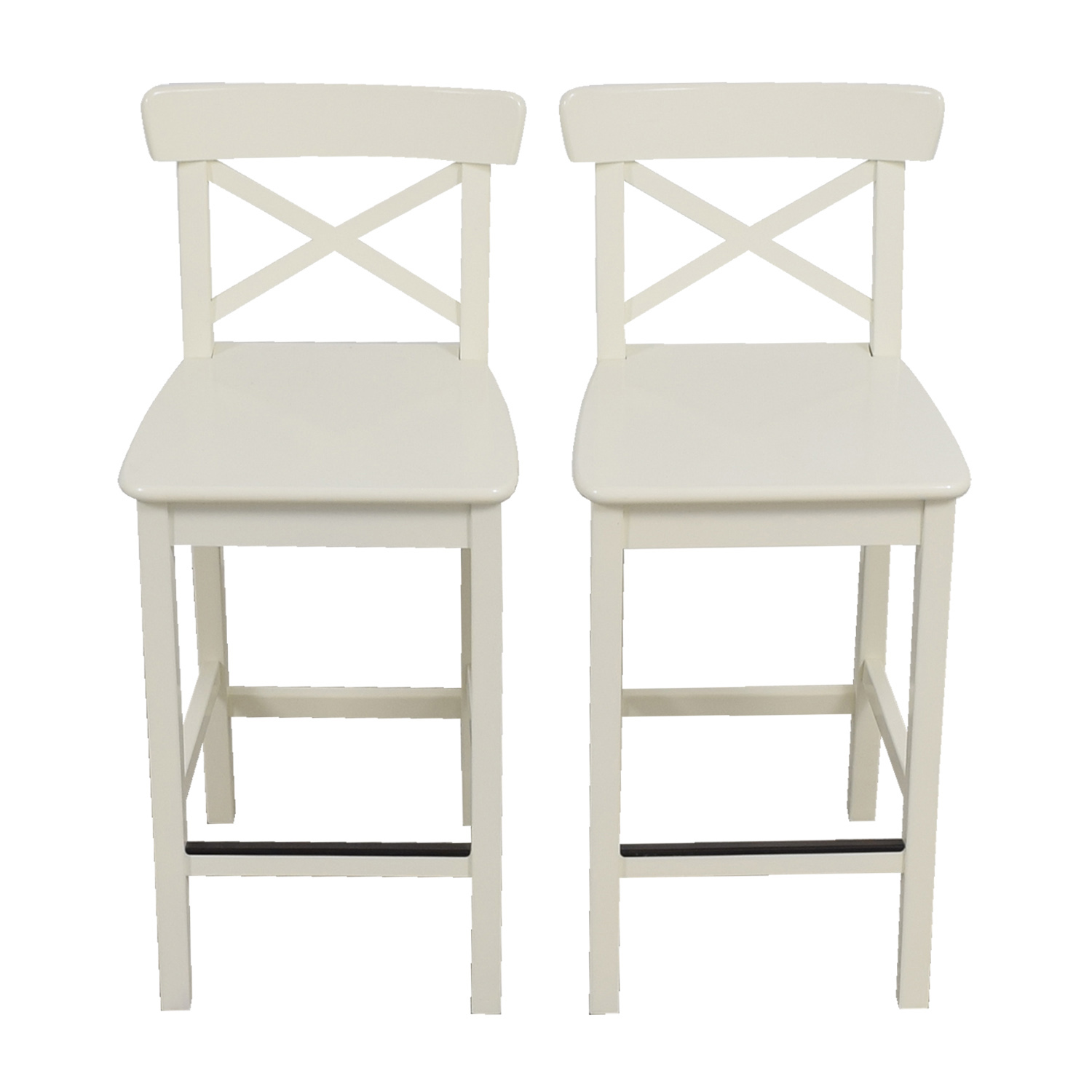 63 Off Ikea Ikea White Bar Stools Chairs