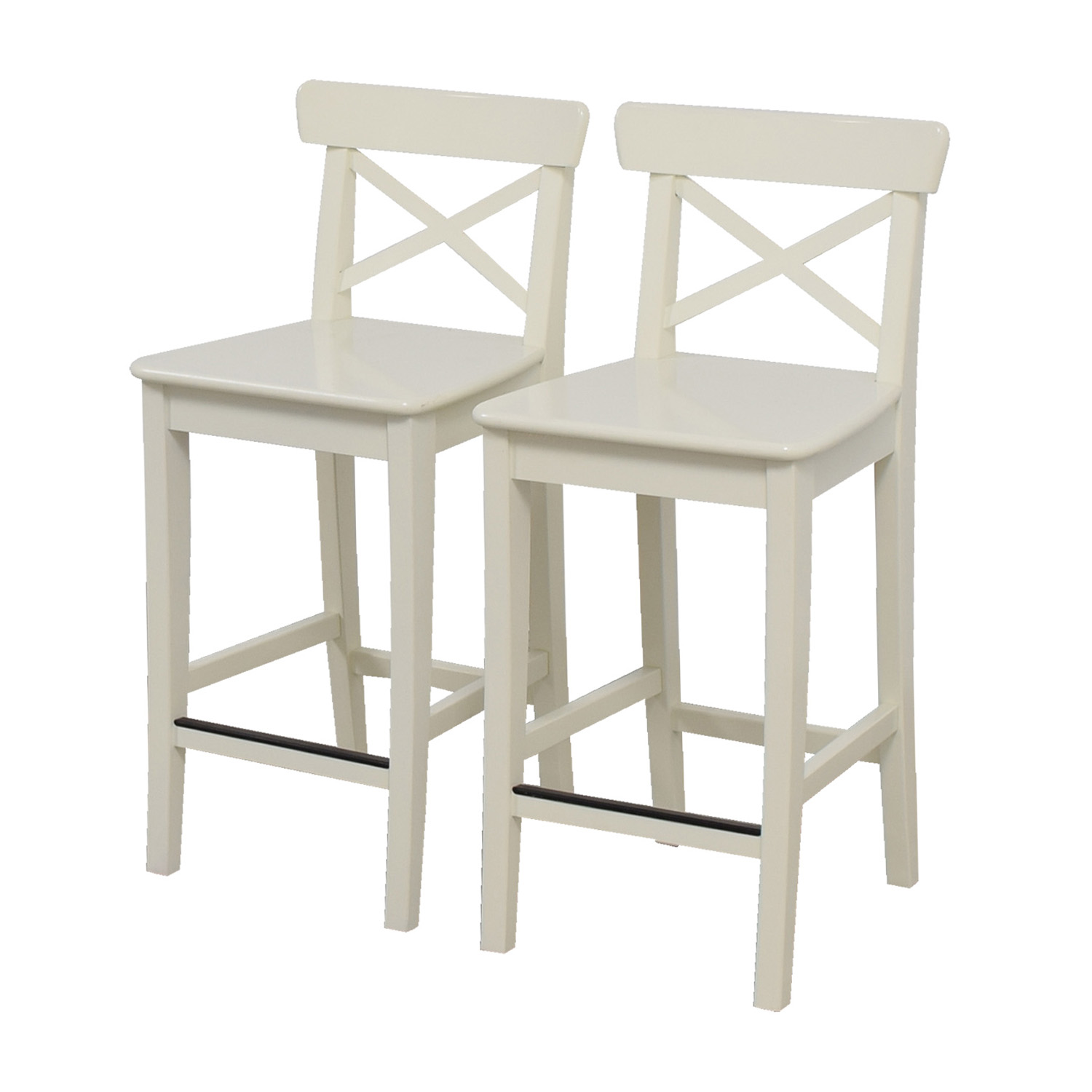 63 off ikea ikea white bar stools chairs. Black Bedroom Furniture Sets. Home Design Ideas