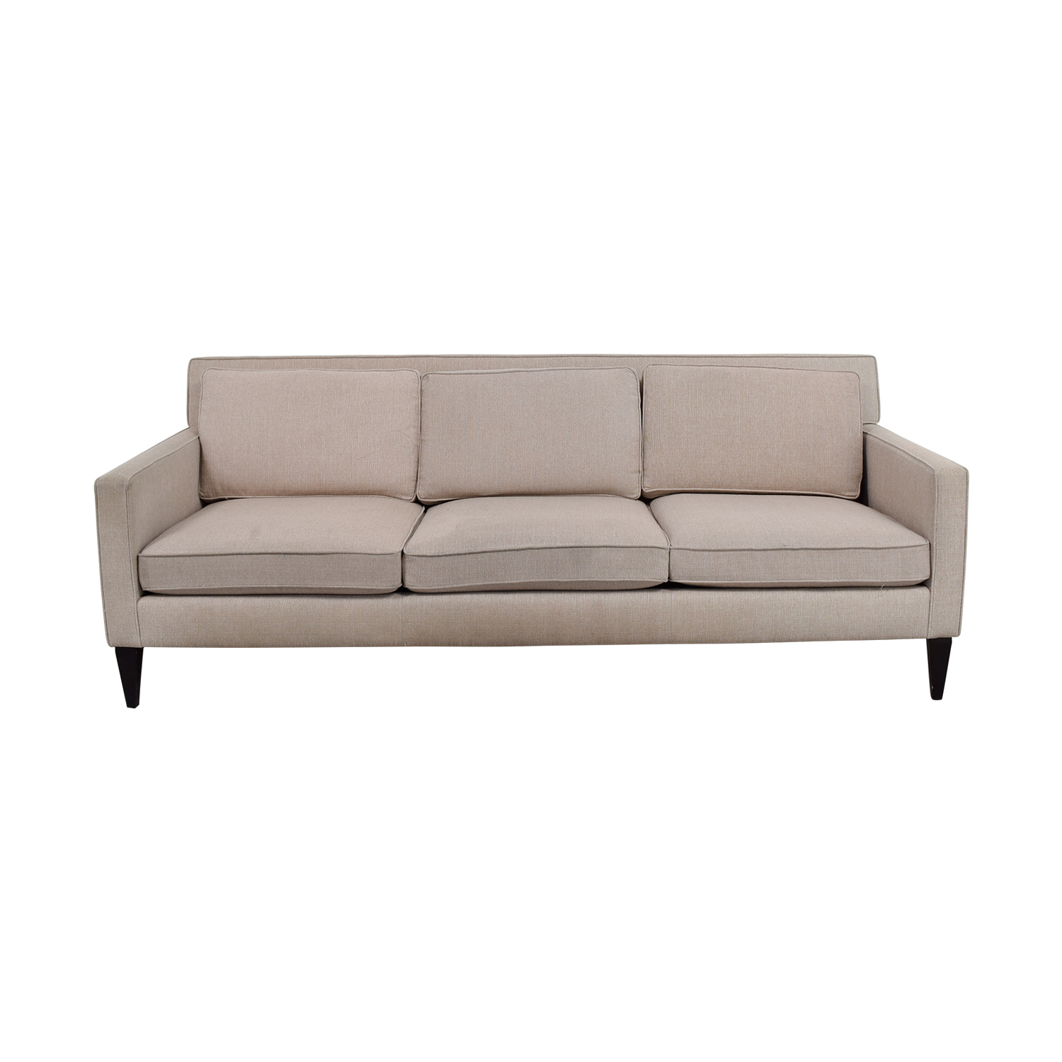 Crate & Barrel Crate & Barrel Rochelle Beige Three-Cushion Sofa beige