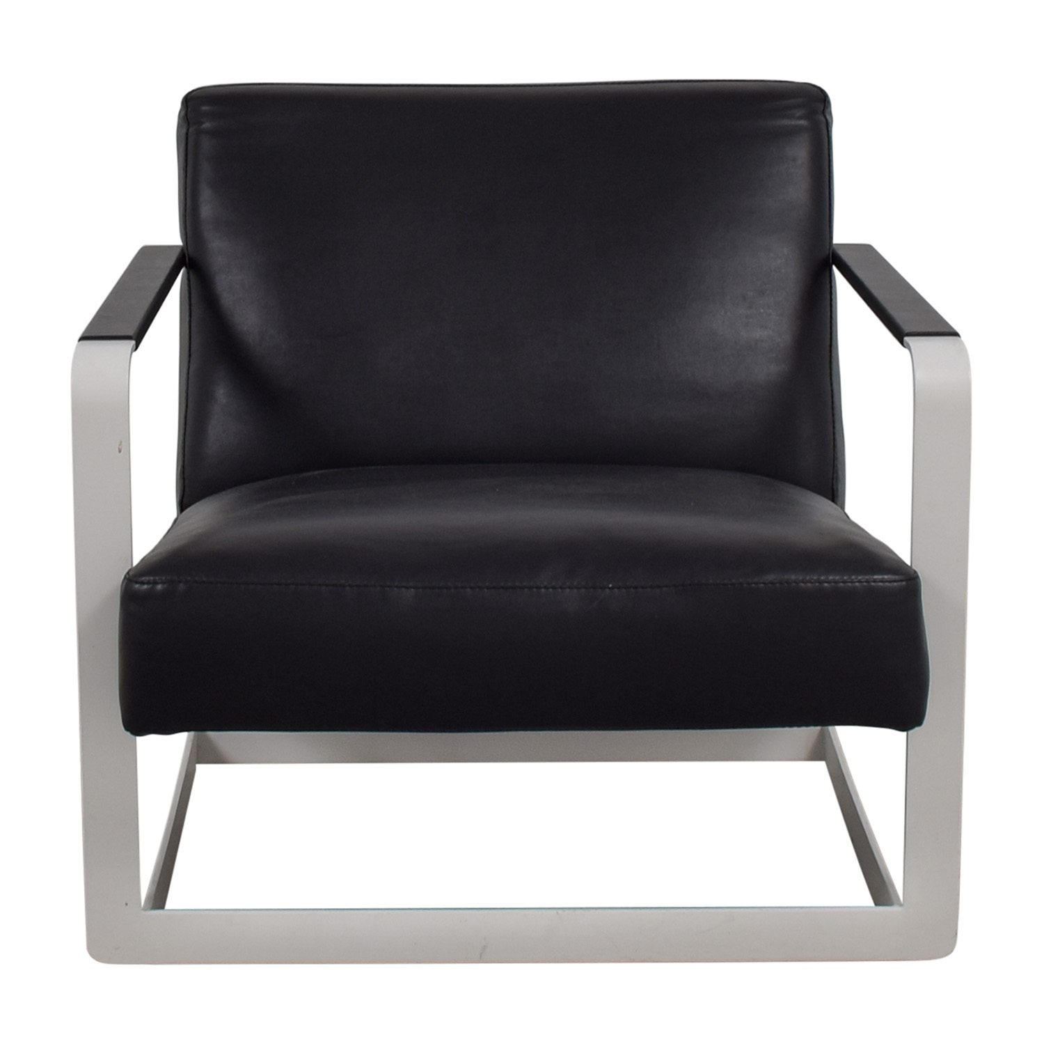 buy Modloft Crosby Black and White Lounge Chair Modloft Accent Chairs